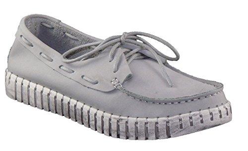 Bernie Mev Women's, TW41 Lace up Boat Shoes Gray 3.6 M
