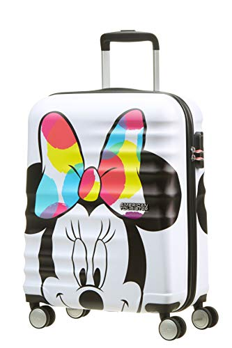 American Tourister Wavebreaker Disney - Spinner S Handgepäck, 55 cm, 36 L, Weiß (Minnie Close-Up)