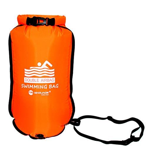 Ruiuzi Swim Buoy Boyas Natación - La boya para Nadadores y triatletas de Aguas Abiertas para Abiertas Aguas Nadadores Entrenamiento o competición (Orange)