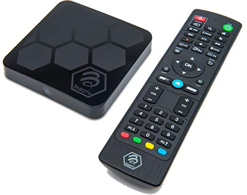 BuzzTV XR4000 - Android 9.0 IPTV Set-Top Box with IR-100 Remote - Faster Than Ever Before - 4K Ultra HD - 2GB RAM 16GB Storage - Latest Graphics Processor - Dual Band WiFi