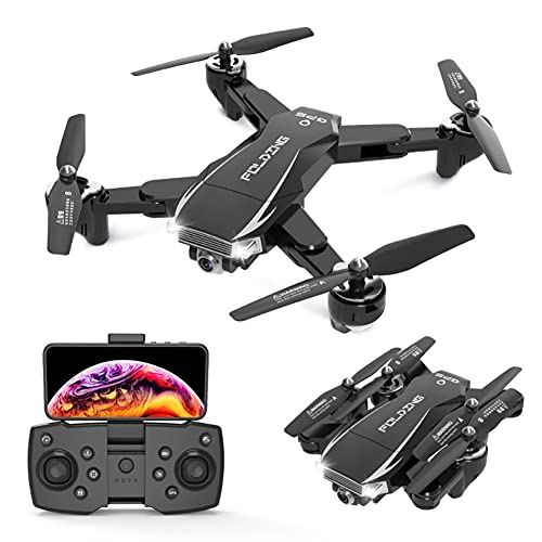 NONGLAN Drone 4k HD Camera WiFi GPS FPV Trasmissione in Tempo Reale Profesional Dron Rc Quadcopter Dron Toys Elicotteri Rc Rc(Color:Nero)