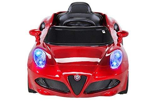 RC Kinderauto kaufen Kinderauto Bild 1: Kinder Elektroauto ALFA Romeo 4c Lizenziert Original Kinderelektroauto Kinderfahrzeug Auto (Weinrot)*