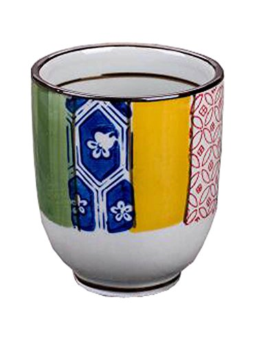 Black Temptation Juego de 2 Tazas de cerámica de Estilo japonés Taza de té Flores pintadas a Mano [J]