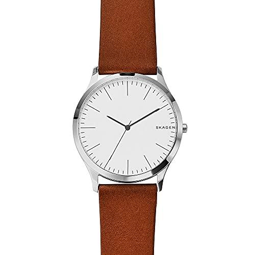 Skagen Herren Analog Quarz Uhr mit Leder Armband SKW6331