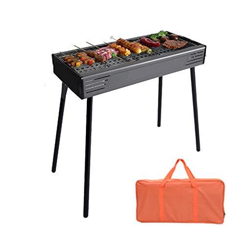 Barbecue Au Charbon De Bois, Barbecue Portable avec Sac, Barbecue Au Charbon De Bois pour Pique-Nique, Randonnée, Arrière-Cours, Survie,Noir