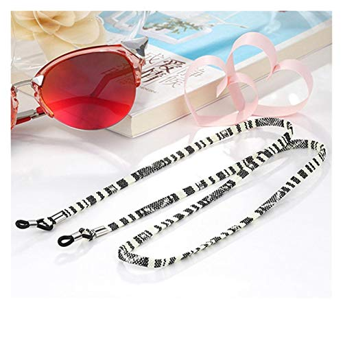 ZLDDE Fashion 5 pcs Eyeglass Sunglasses Cotton Neck String Cord Retainer Strap Eyewear Lanyard Holder High-End Ethnic Rope Glasses Chain Glasses accessories (Color : H)