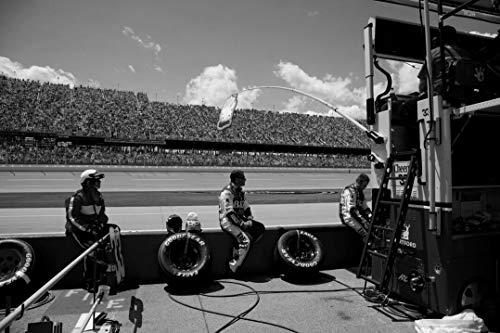 18 x 24 Black & White Canvas Wrapped Print of Talladega Superspeedway Race Talladega Alabama y55 2010 Highsmith