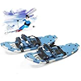 Unisex 25 '' Touring Snowshoes, Adult Snow Gliders Lightweight Aluminum Alloy for Winter Snow Hikes, Mountaineering and Snow Games