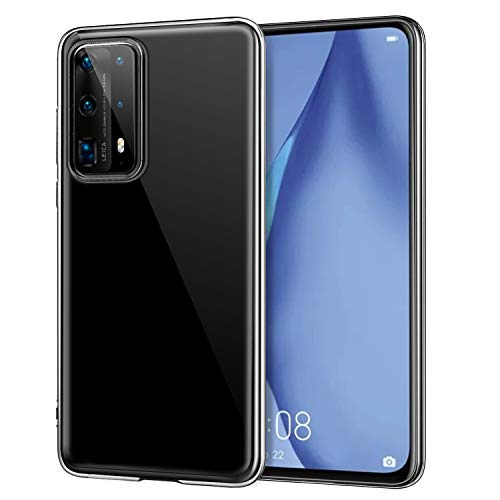 MoKo Case Compatible with Huawei P40 Pro, Ultra Slim Protective Crystal Soft TPU Cover Shell Fits with Huawei P40 Pro Smartphone Anti-Scratch Shockproof Cellphone Cover Flexible TPU Case - Clear