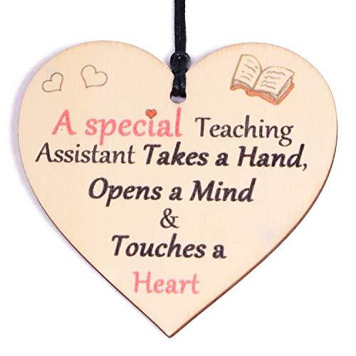 HONZEE Special Teacher Gifts Leaving Gift Wooden Heart Thank You Teacher...