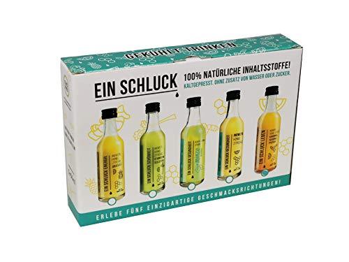 EIN SCHLUCK LEBEN  - Ginger Energy Shot, mit Ingwersaft , Kurkumasaft, Honig, Zitronensaft, Cayenne-Pfeffer und Kokoswasser, pasteurisiert, 5 Glasflaschen x 50 ml