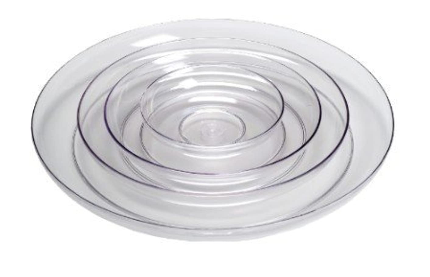 11in Lomey Clear Designer Dish, Pack 6