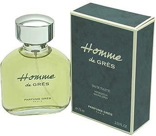 Homme De Gres By Parfums Gres For Men. Eau De Toilette Spray 2.5 Ounces