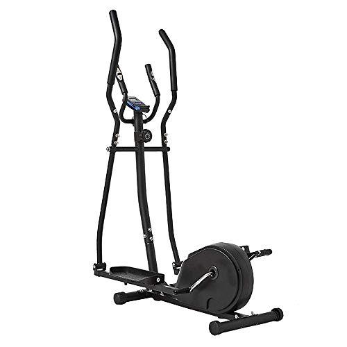 KANJJ-YU Entrenador avanzado de bicicleta de ejercicio 2 en 1 y entrenamiento elíptico para entrenamiento cardiovascular ideal (color: negro, tamaño: tamaño libre)