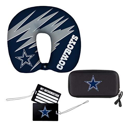 "NFL Dallas Cowboys 4-Piece Travel Set, 13"" x 3"" x 12"""