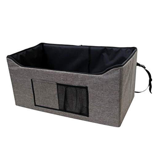 REW - Asiento de coche para perros extra estable, impermeable y transpirable, asiento para mascotas con cinturón de seguridad, duradero, S