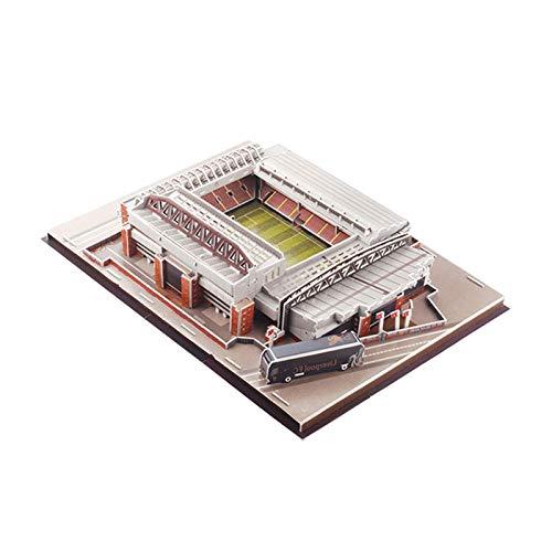 Honganrunli 2021 Neuestes 3D Anfield Stadium Puzzle Spielzeug, Fußballfeldstadion Panorama-Architektur-Puzzles, Modellbau-Kit für Fußballstadien für Kinder Erwachsene, Jungen und Mädchen