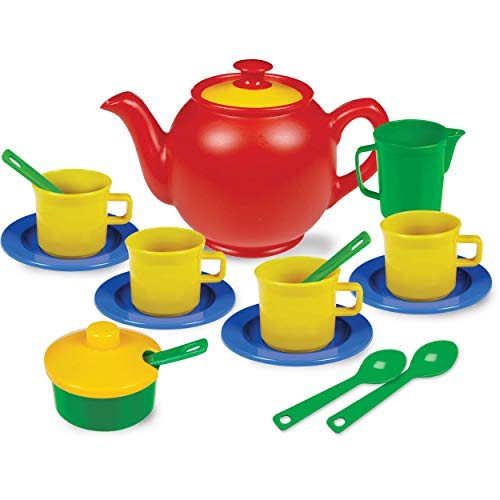 Product Image of the Kidzlane Play Tea Set, 15+ Durable Plastic Pieces, Safe and BPA Free for...