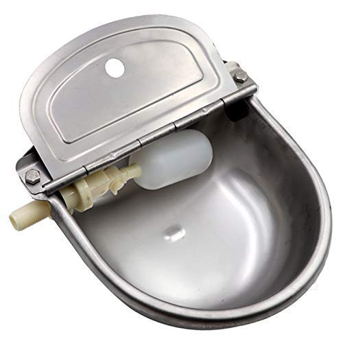 Automatic Dog Feeder Trough Bowl Dispenser Waterer for Pet Dog Horse Cattle Goat Sheep Water...