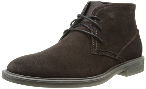 Calvin Klein Men's Ulysses Suede Boot,Dark Brown,11.5 M US