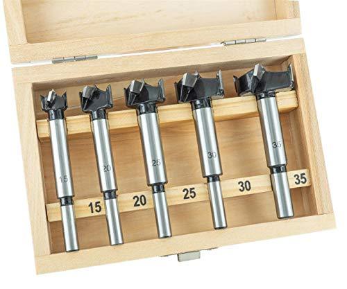 ENT 09099 5-tlg. Kunstbohrer Set - Hartmetall - Heimwerkerausführung - Ø 15-20-25-30-35 mm mit Schaft- Ø 8/10 mm