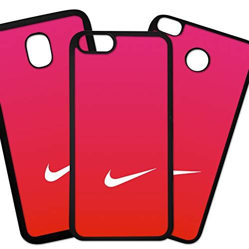 Tuscaprichosonline Fundas De Moviles Carcasas De Moviles Funda Carcasa Compatible con Marca Deportiva Nike Logo Blanco Fondo Degradado Rojo
