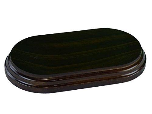Greca Peanas rectangulares ovaladas. Acabado Barniz Nogal. Varias Medidas. Madera Maciza. (20 * 11 cms)