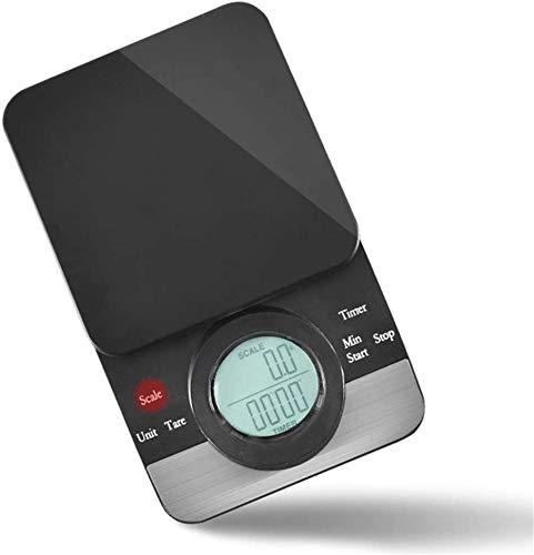 JINRU Kapazität 3kg Handgemachter Kaffee Elektronische Waage Chronograph Skala Countdown Gebackenes Nahrungsmittelskala Präzision 0.1g Bar Skala mit Einer Hot Pad Küchenwaage