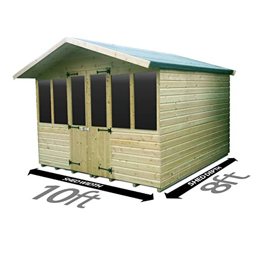 Total Sheds 10ft (3m) x 8ft (2.4m) Summer House Cabin Supreme Cabin