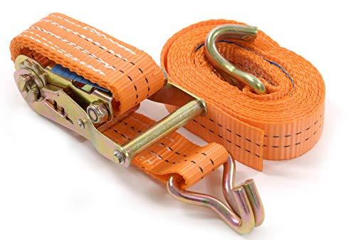 Seil-tech - Spanngurt mit Ratsche 2000kg daN 2t orange Zweiteilig Zurrgurte - 35mm - Längere Haltbarkeit - Entsprechen DIN EN 12195-2, 2M