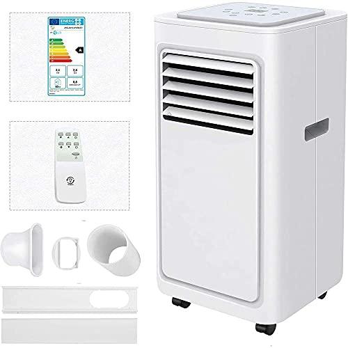 JHTD unità di condizionatore d'Aria Portatile, 5000 BTU 4in1 Aria condizionata con Dispositivo di Raffreddamento Aria, deumidificatore, Ventola e modalità di Sonno, Timer 24 Ore
