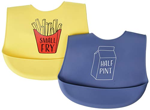 Hudson Baby Unisex Baby Silicone Bibs, Small Fry, One Size