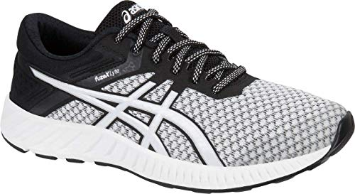 ASICS Women's fuzeX Lyte 2 Running Shoe, White/Black/Silver, 9 M US