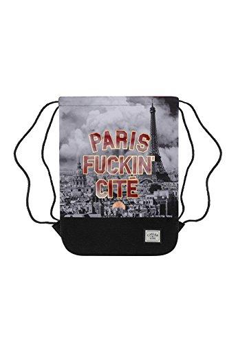 Cayler & Sons Gymbag PARIS SKYLINE Maroon Mc