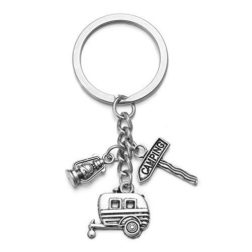 JOVIVI Wohnwagen Camping Leuchte Reise Schlüsselanhänger Legierung Schlüsselring Keychain Tourist Geschenk