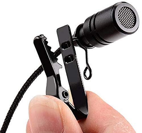 SHOPTOSHOP Collar Microphone Kit with Voice Recording Filter Mic for Recording Singing YouTube on Smartphones School and Tuition Classes 4.5 Feet (Black)