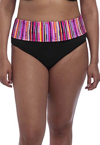 Elomi Plus Size Nomad Fold-Over Bikini Bottom, 24, Black