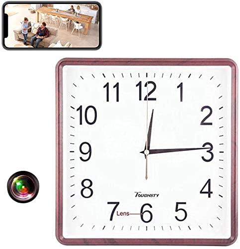 LXDZXY Reloj con Cámara Oculta, Captura De Video 4K HD, Detección De Movimiento Y Acceso A Aplicaciones Inalámbricas En Vivo, Vigilancia Inteligente, Cámara Niñera, Reloj De Pared con Cámara Espía