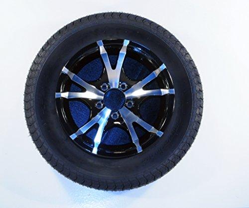 2-Pk TowMax Trailer Tire On Rim ST185/80R13 LRC 5-4.5 Aluminum covid 19 (Spoke Aluminum Trailer Tire coronavirus)