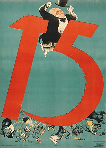 World of Art Global - Poster vintage con propaganda russa 'Il martello e la falce che rimuove i nemici', 1932, riproduzione 200 g/m², formato A3, vintage comunista russo