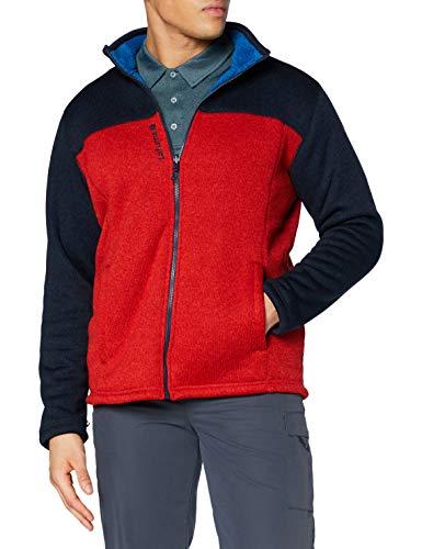 Lafuma - Cali F-Zip M - Fleecejacke für Herren - Warmes und atmungsaktives Material - Wandern, Trekking, Lifestyle - Blau/Rot