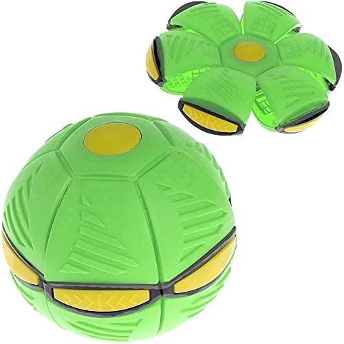Juguete de los niños platillo volador bola mágica deformación luz ovni con luz led volador juguetes ventilación descompresión padre