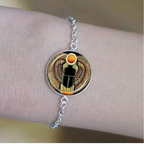 Symbol der Stärke, ägyptischer Skarabäus, Glaskuppel, Ägyptischer Schmuck, Geschenk für Frauen
