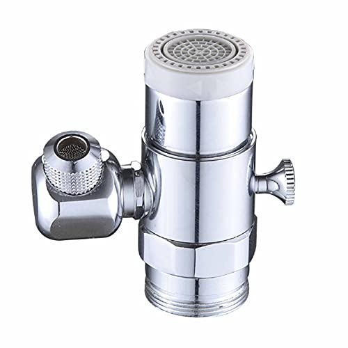 Dual function Faucet Aerator, Faucet Aerator Rotatable Bathroom Universal 360 Degress, Aerator Kitchen/Bathroom Faucet Mounted Face Washing Gargle Eyewash Station Aerator