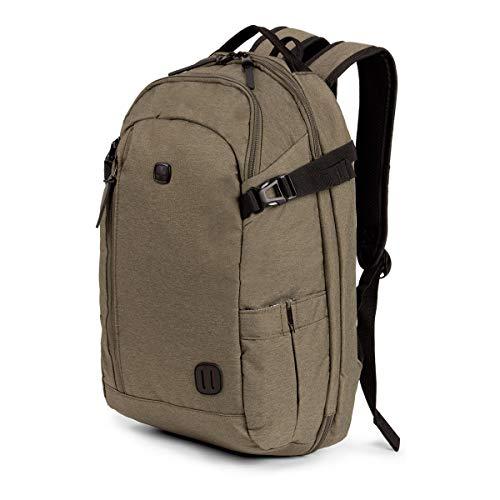SWISSGEAR Hybrid 15-inch Laptop Backpack | Travel, Work School | Men's and Women's - Olive