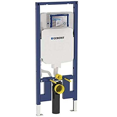 """Geberit 111.798.00.1 Concealed Toilet Carrier Frame with Dual-Flush Tank for 2 x 4"""" Walls"""