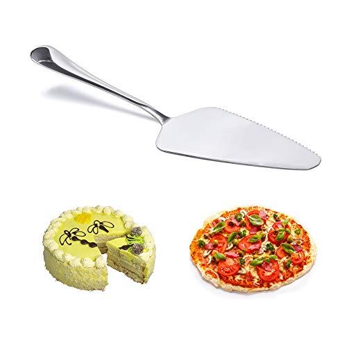 CAOLATOR Pelles à Tarte Pelle pour Gâteaux en Acier Inoxydable Cutter pour Gâteaux Pizza Steak