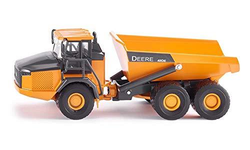 SIKU 3506, John Deere Dumper, Baustellenfahrzeug, 1:50, Metall/Kunststoff, Orange, Kippbare Mulde