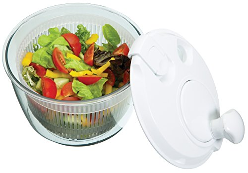 Kitchen Craft Mini-Salatschleuder, Glas, Klar, 20 x 20 x 18 cm