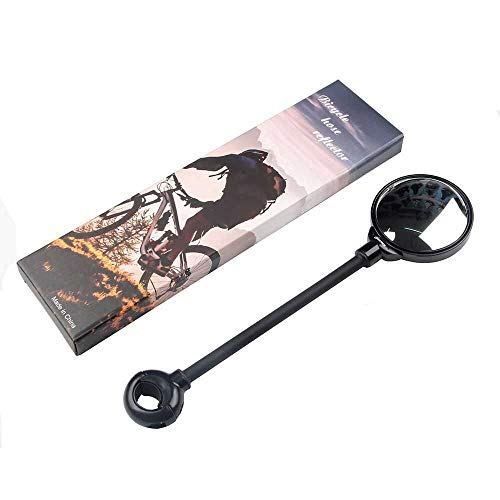Imagine Abnehmbarer Fahrradrückspiegel , 360 Grad Verstellbarer Fahrradrückspiegel Explosionsgeschützte Edelstahllinse Länge 13,78 cm/Fahrradrückspiegel